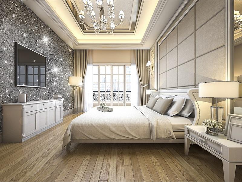 Making Your Room Shine On 2020: Glitter Wallpaper